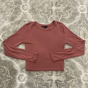 Forever 21 Dusty Rose Crop Top